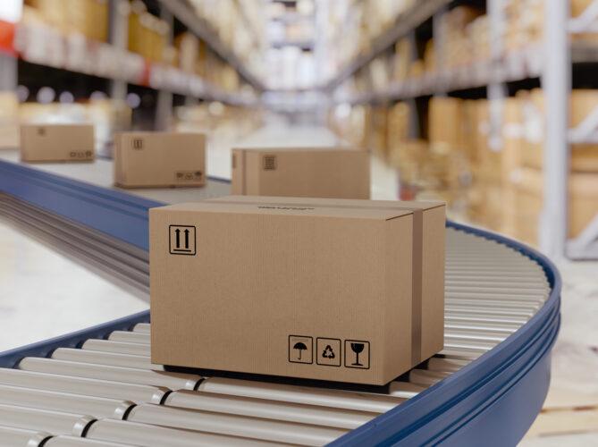 Asset Packaging Roller conveyor